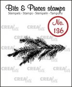 Clearstamp - Crealies - Bits & Pieces - no.136 - Pine branch