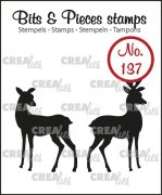 Clearstamp - Crealies - Bits & Pieces - no.137 - Rendeer