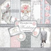 "Paper Pad 12""x12"" - Stamperia - Wedding"