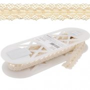 Spets - Spider Cluny Lace 36mm - Creme