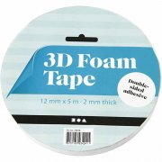 3D-Foam Tape 2x12mm - 5 meter - Syrafri