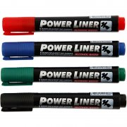 Power Liner - Spets 1,5 - 3 mm - 4 st mixade färger