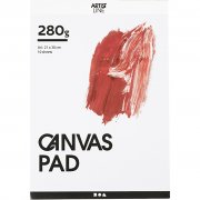 Målarblock A4 - Canvas Pad 250 g - 10 vita ark