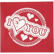 Screenstencil - Schablon - I love you - 20x22 cm