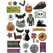Die cuts - 20-100 mm - 250 g - Halloween - 48 st