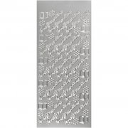 Konfirmation - Stickers - 10x23 cm - Silver - 5 ark