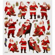Stickers - Klassisk Tomte - 15x16,5 cm