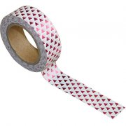 Washi Tape - Red Triangles 10m