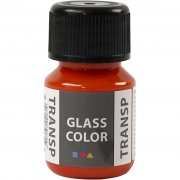 Glasfärg transparent - Orange - 35 ml