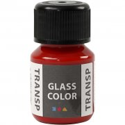 Glasfärg transparent - Röd - 35 ml
