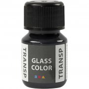 Glasfärg transparent - Svart - 35 ml