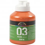 A-color Pearl akrylfärg - Orange - 500 ml