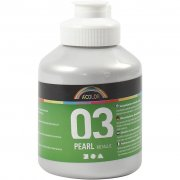 A-color Pearl akrylfärg - Silver - 500 ml