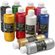 Textile Color Pearl - Mixade färger - 10x250ml
