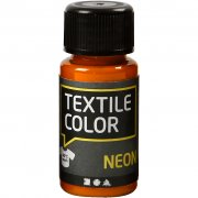Textil Färg Neon - Orange - 50 ml