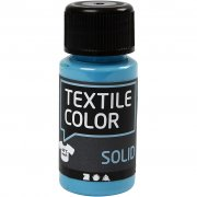Textil Färg Solid - Turkosblå - 50 ml