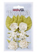 Florella Mullberry Flowers - Vit - 30 mm