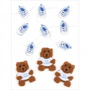 3D Stickers Jolees - Baby Boy Bears & Booties