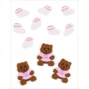 3D Stickers Jolees - Baby Girl Bears & Booties