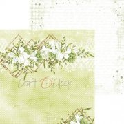 Papper Craft Clock - Greenery Charm 04