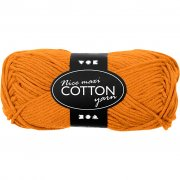 Bomullsgarn - L: 80-85 m - Orange - Maxi - 50 g