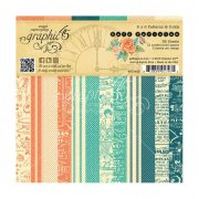 Paper Pad 6x6 Graphic45 - Cafe Parisian Print & Solid, 12 Designs