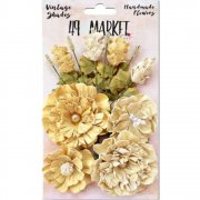 Blommor - Vintage Shades Bouquet - Pale Yellow