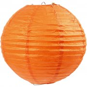 Papperslampa Halloween - 20 cm - Orange