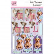 Foiled Decoupage A4 - Anita's Punchout Sheet - Party Pooches