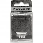 Powermagnet 5 mm - Tjocklek 2 mm - 10 st