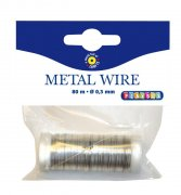 Smyckeswire Metall - Silver - 0,3 mm - 80 m