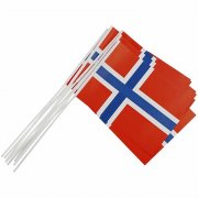 Pappersflaggor - 20 x 25 cm - Norge - 10 st