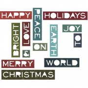 Sizzix Thinlits Dies - Holiday Words #2 - Tim Holtz