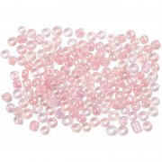 Seed Beads 3 mm - Rosa Kärna - 25 gram