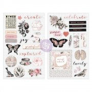 Prima Chipboard Stickers - Amelia Rose - Pink Roses