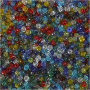 Seed Beads 4mm - Transparent - 1 kg i spann