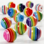 Resin Pärlor Rund Design - 12 mm - 55 gram