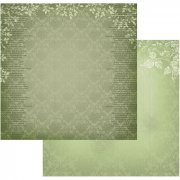 Papper Couture Creations - Vintage Rose Garden - Green Damask