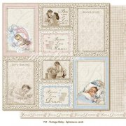 Papper Maja Design - Vintage Baby - Ephemera Cards