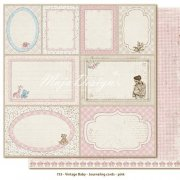 Papper Maja Design - Vintage Baby - Journaling Cards Pink