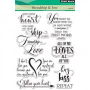 Clearstamp Set - Penny Black - Friendship & Love Text