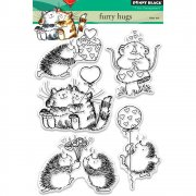 Clearstamp Set - Penny Black - Furry Hugs