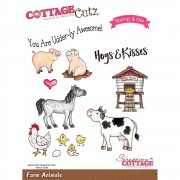 Stamp And Die Set - CottageCutz - Farm Animals