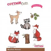 Stamp And Die Set - CottageCutz - Woodland Animals