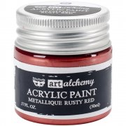 Finnabair Alchemy Acrylic Paint - Metallique Rusty Red
