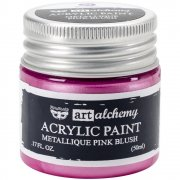 Finnabair Alchemy Acrylic Paint - Metallique Pink Blush