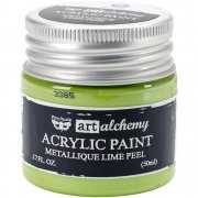 Finnabair Alchemy Acrylic Paint - Metallique Lime Peel
