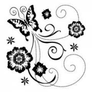 Clearstamps - Inkadinkado - Butterfly Scroll