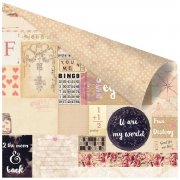 Papper Prima - Love Clippings Foiled - To The Moon & Back