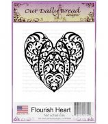 Cling Rubber Stamp - Our Daily Bread - Flourish Heart